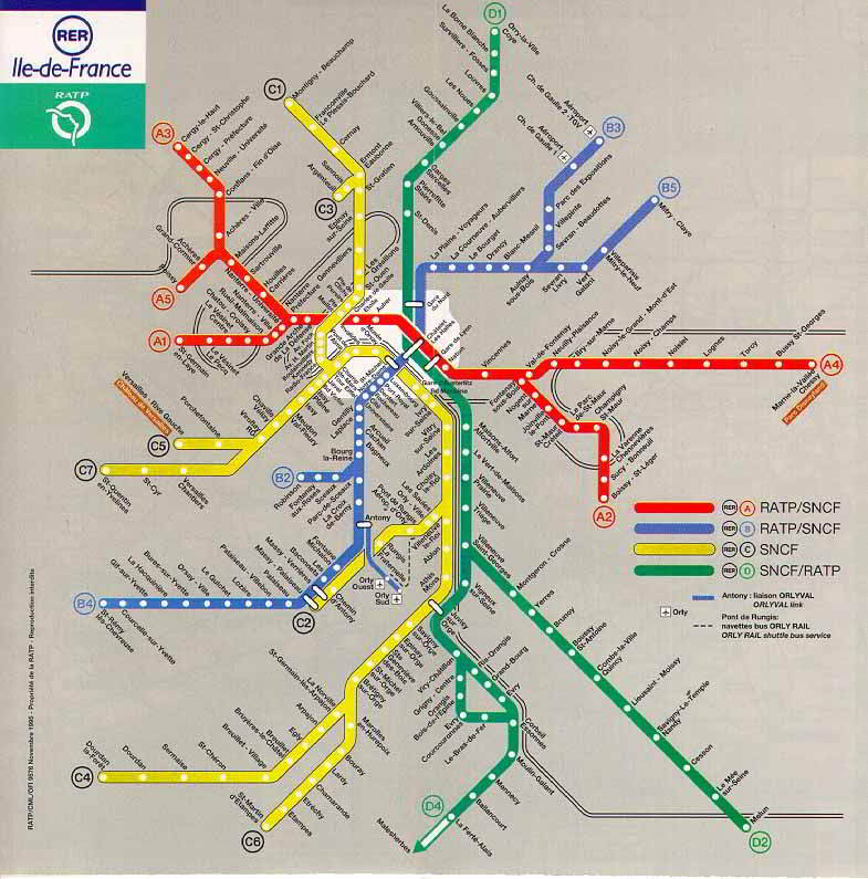 Paris subway map 4