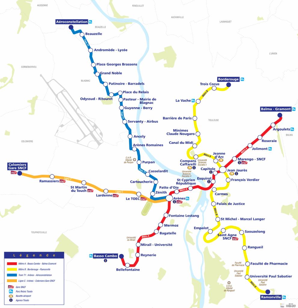 الخريطة المترو تولوز 2