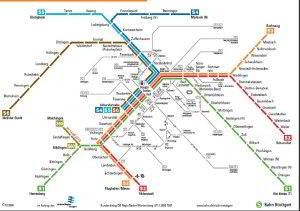 Stuttgart mapa do metro 2