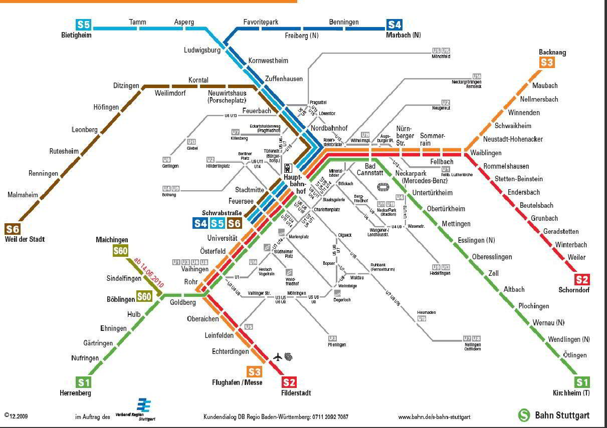 Mapa meter Stuttgart Mapa Metro