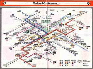 Stuttgart mapa do metro 3