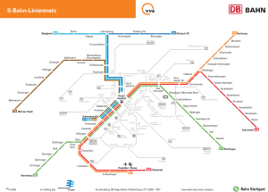 Stuttgart mapa do metro suburbano 9