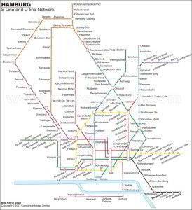 マップを表示するハンブルクの地下鉄マップ 2