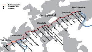 Wuppertal plano mapa do metro 4